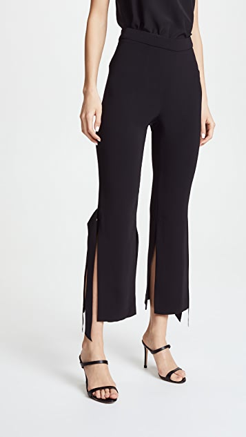 Cushnie Et Ochs Salma Cropped Pants with Satin Ribbon