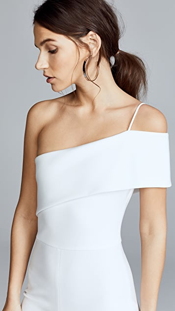Cushnie Et Ochs Seina One Shoulder Cropped Jumpsuit