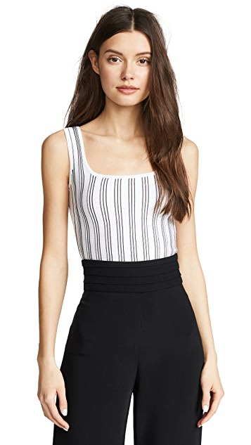 Cushnie Two Tone Knit Tank