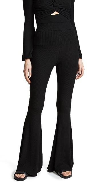 Cushnie Et Ochs Marguerite Flare Lounge Pants