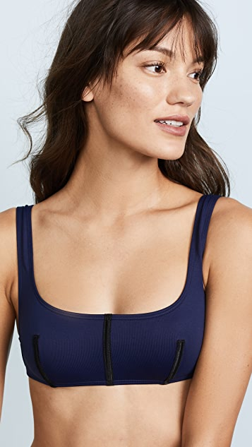 Cushnie Remy Square Neck Bikini Top with Boning