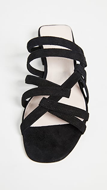Cushnie Liam Flats with Intertwining Strap Detail