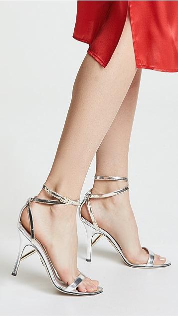 Cushnie Et Ochs Felix Specchio Sandals with Ankle Strap