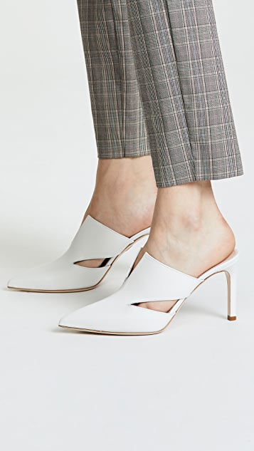 Cushnie Marcel Mules with Triangle Cutouts