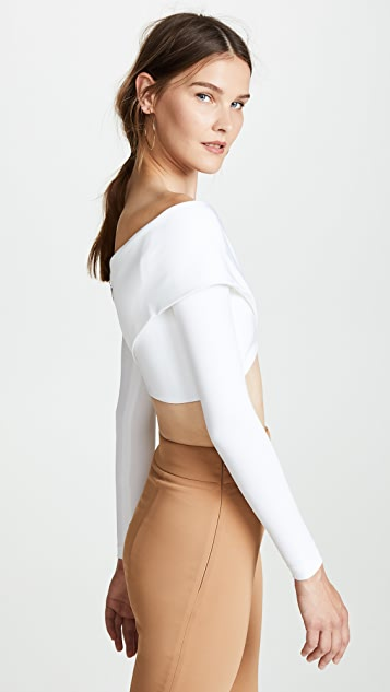 Cushnie Et Ochs Long Sleeve Crop Top