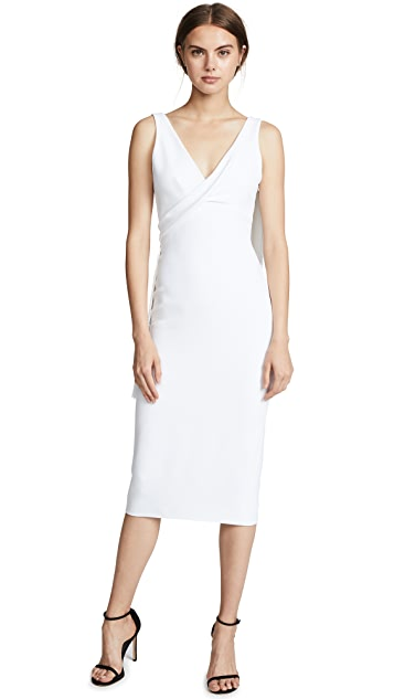 Cushnie Et Ochs Draped Fringe Pencil Dress