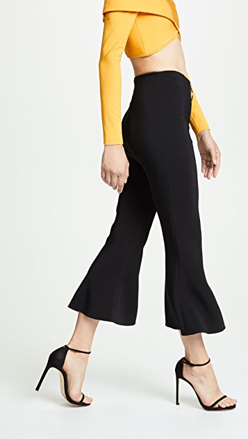 Cushnie High Waisted Cropped Flare Pants