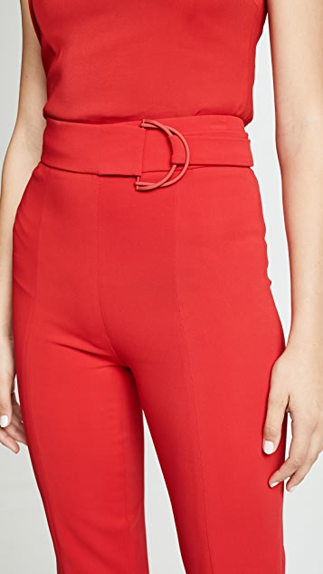 High Waist Flares With D Ring Buckle by Cushnie Et Ochs