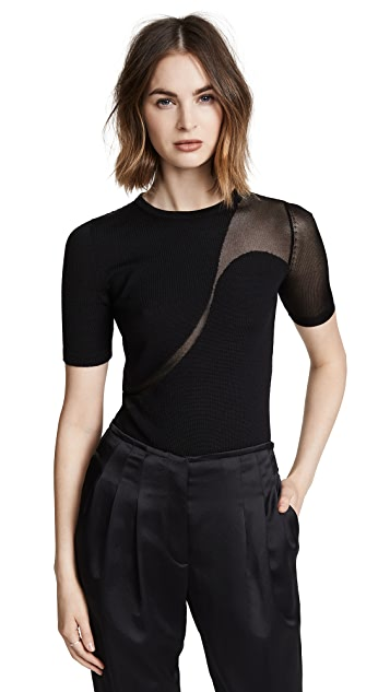 Cushnie Short Sleeve Crew Neck Sweater