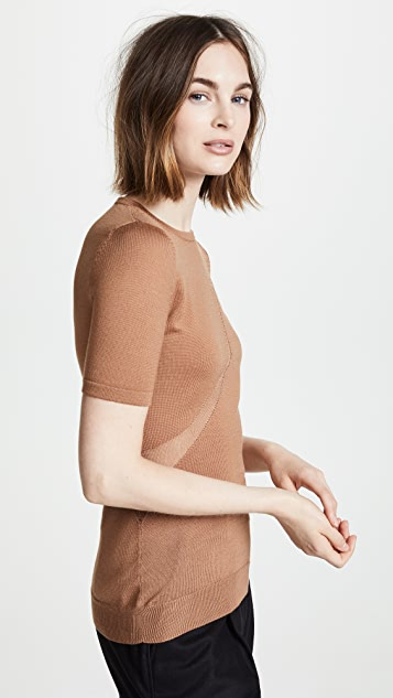 Cushnie Et Ochs Short Sleeve Crew Neck Sweater