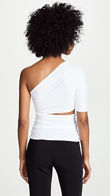 Cushnie One Shoulder Cutout Top