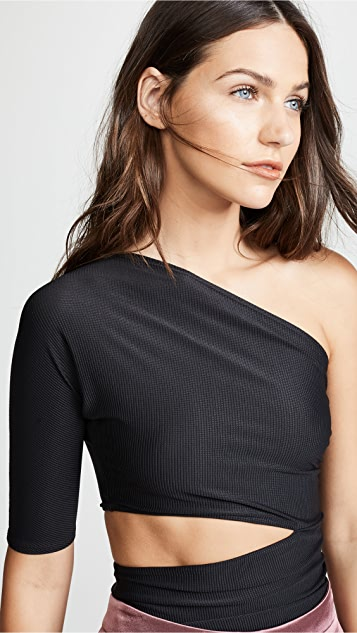 Cushnie One Shoulder Cutout Top