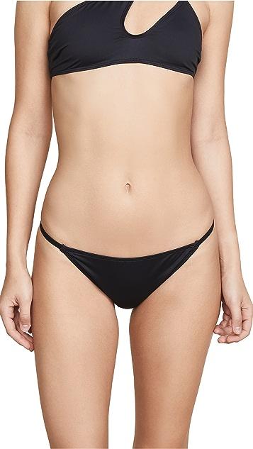 Cushnie Bikini Bottoms with Side Straps