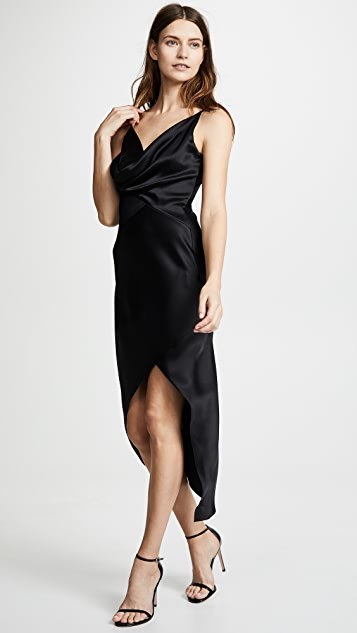 Cushnie Wraparound Dress with Front Cowl