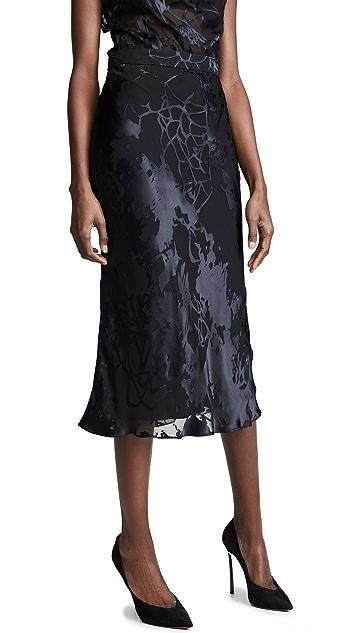 Cushnie High Waisted Bias Pencil Skirt