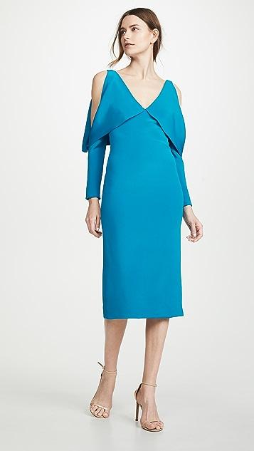 Cushnie Deep V Pencil Dress