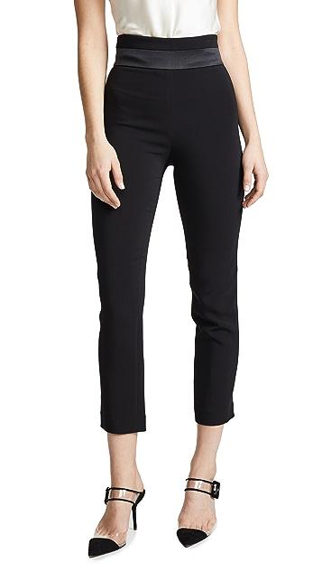 Cushnie Укороченные узкие брюки с высокой талией
