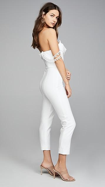 Cushnie Strapless Cropped Jumpsuit
