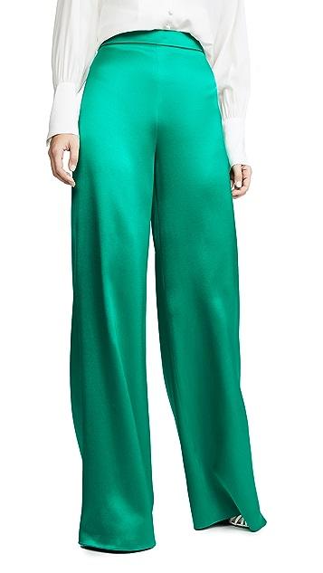 Cushnie Широкие брюки из атласа