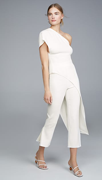 Cushnie One Shoulder Asymmetrical Tunic