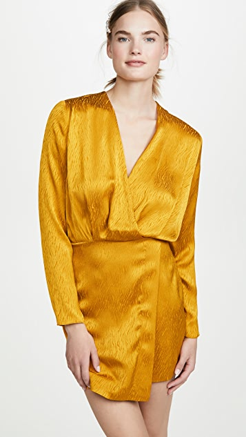 Cushnie Mini Dress with Blouson Top