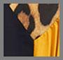 леопардовый бежевый принт/темно-синий/античный золотой