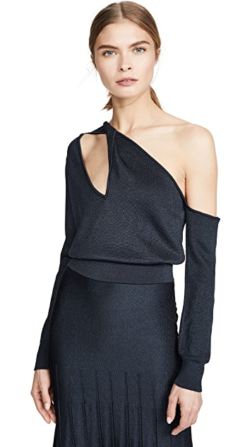 Cushnie Long Sleeve Knit Top