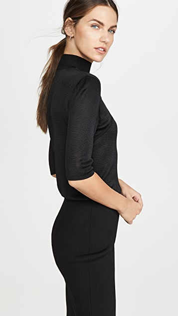 Cushnie Mock Neck Knit Dress