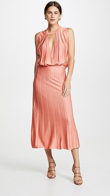 Cushnie Миди-платье без рукавов