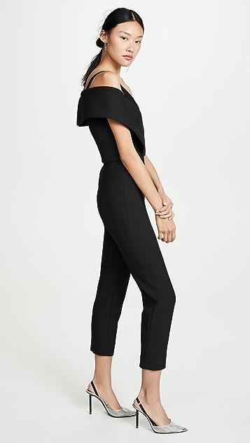Cushnie Off Shoulder Cropped Jumpsuit