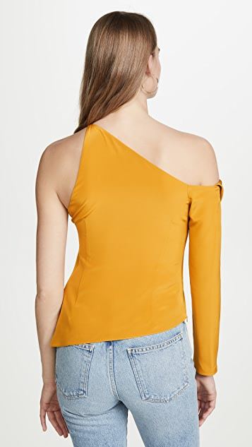 Cushnie Cold Shoulder Top with Single Sleeve