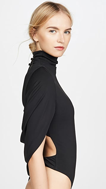 Cushnie High Neck Thong Bodysuit