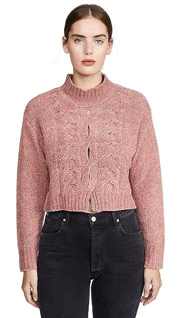 Cushnie Long Sleeved Mock Neck Sweater