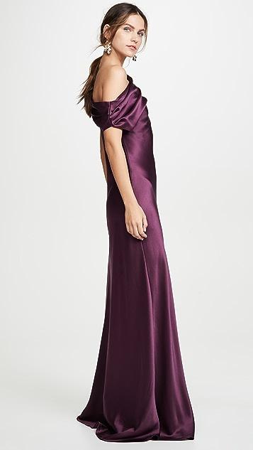 Cushnie Вечернее платье без рукавов с открытым вырезом и драпировкой