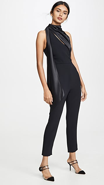 Cushnie Sleeveless Fitted Cropped Jumpsuit