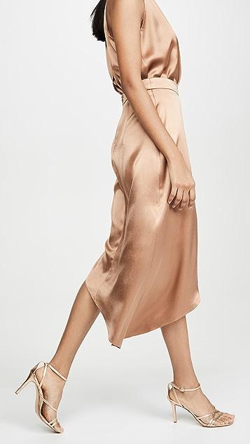 Cushnie High Waisted Two Color Skirt
