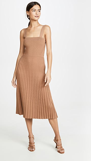 Cushnie Sleeveless Fit and Flare Knit Dress