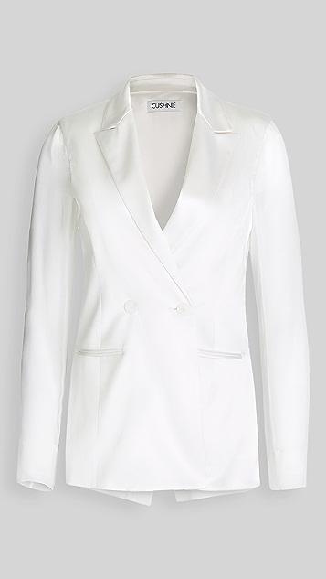 Cushnie 雪纺衣袖 & 背面双排扣夹克