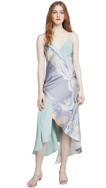 Cushnie Платье-комбинация с V-образным вырезом и асимметричными линиями