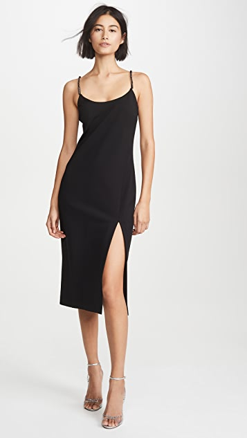 Cushnie Sleeveless Pencil Dress with Crystal Chain Straps