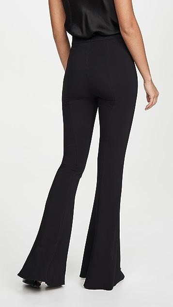 Cushnie High Waisted Slim Flare Pants