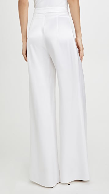 Cushnie High Waisted Wide Leg Pants