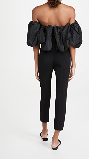 Cushnie Strapless Cropped Fitted Jumpsuit
