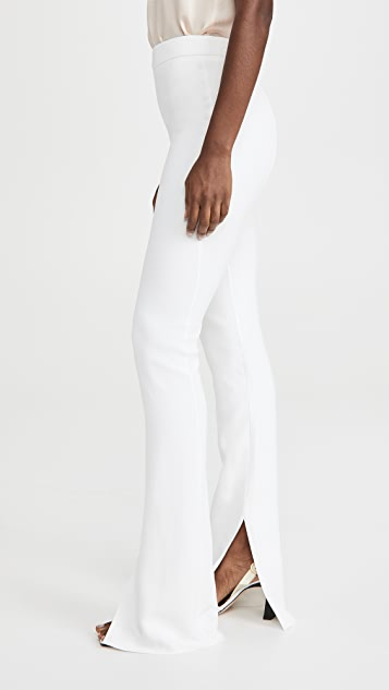 Cushnie High Waisted Pants with Slight Flare Leg