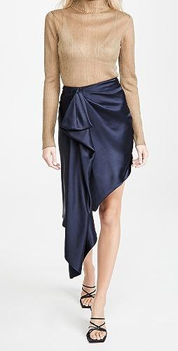 Cushnie - 高腰不对称下摆半身裙