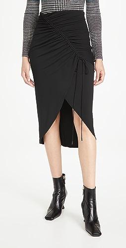 Cushnie - 抽绳高腰铅笔裙