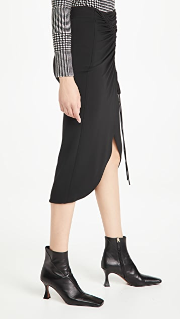Cushnie High Waisted Pencil Skirt with Drawstring