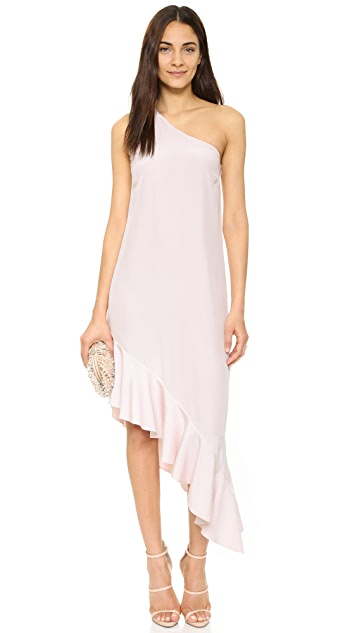 Cynthia Rowley Ruffle One Shoulder Dress