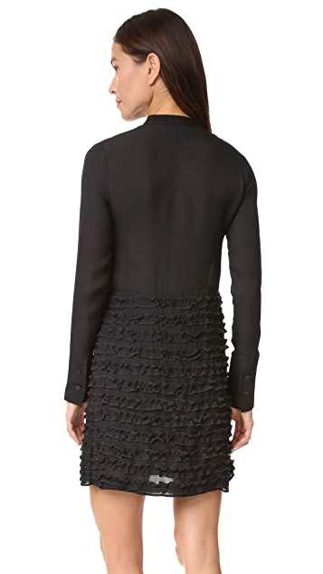 Cynthia Rowley Ruffle Drop Waist Dress
