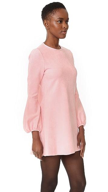 Cynthia Rowley Faux Suede Bell Dress